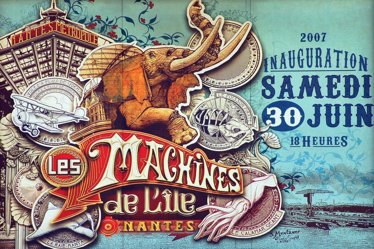 Les posters des Machines de l'île à Nantes