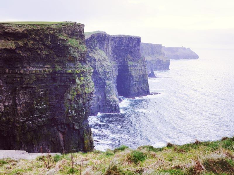 Test d'impression de photo sur toile avec une photo des Cliffs of Moher en Irlande