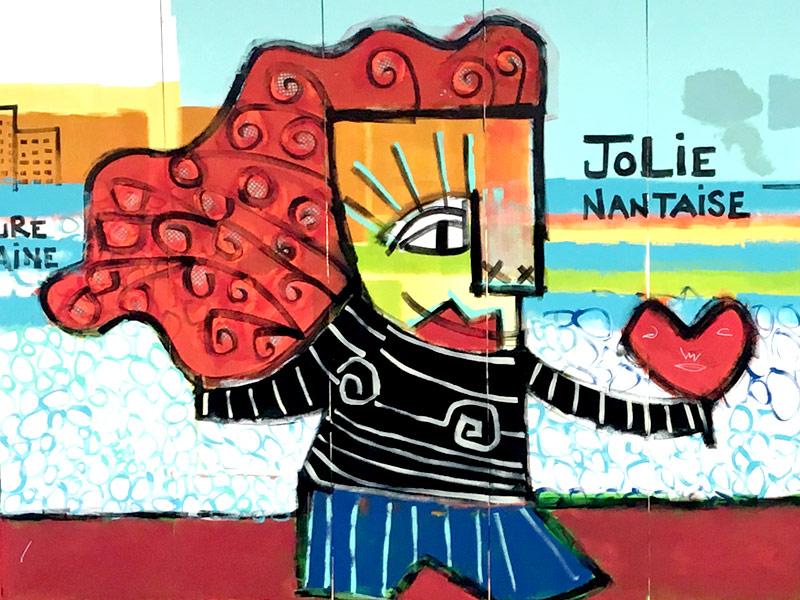 Jolie nantaise vue par Mika, graffeur et artiste peintre nantais