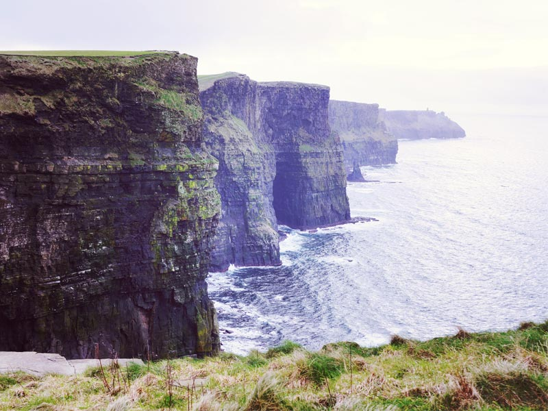Test d'impression de photo sur toile avec une photo des Cliffs of Moher en Irlande