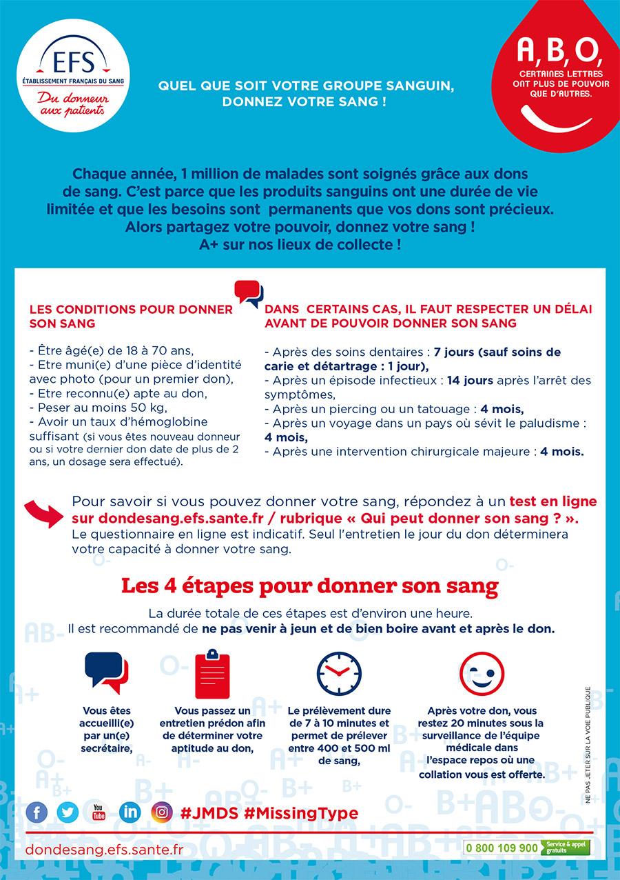 Don du sang à Nantes