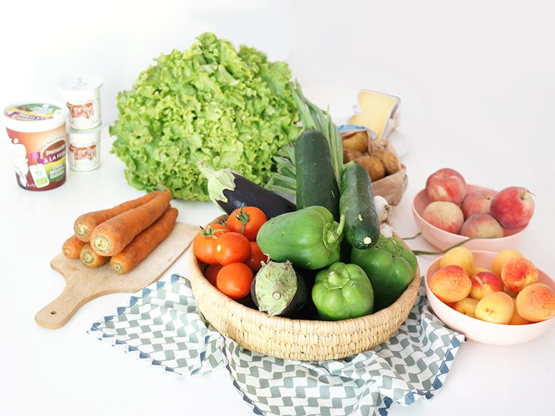 Les Paniers de David, ce sont des paniers de fruits et légumes bio produits localement autour de Nantes et livrés directement chez soi.