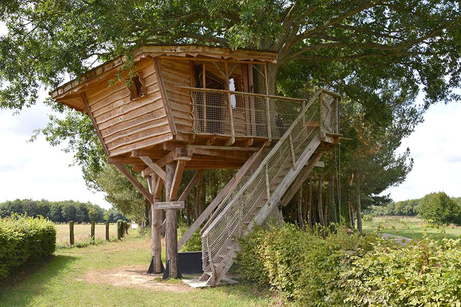 Hébergement insolite dans une cabane dans les arbres