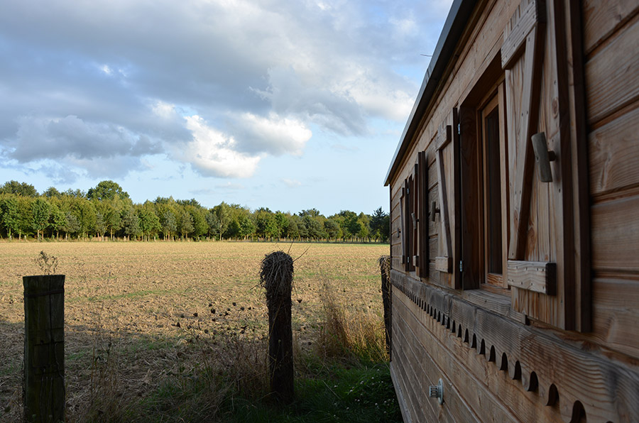 Hébergement insolite dans une roulotte en bois