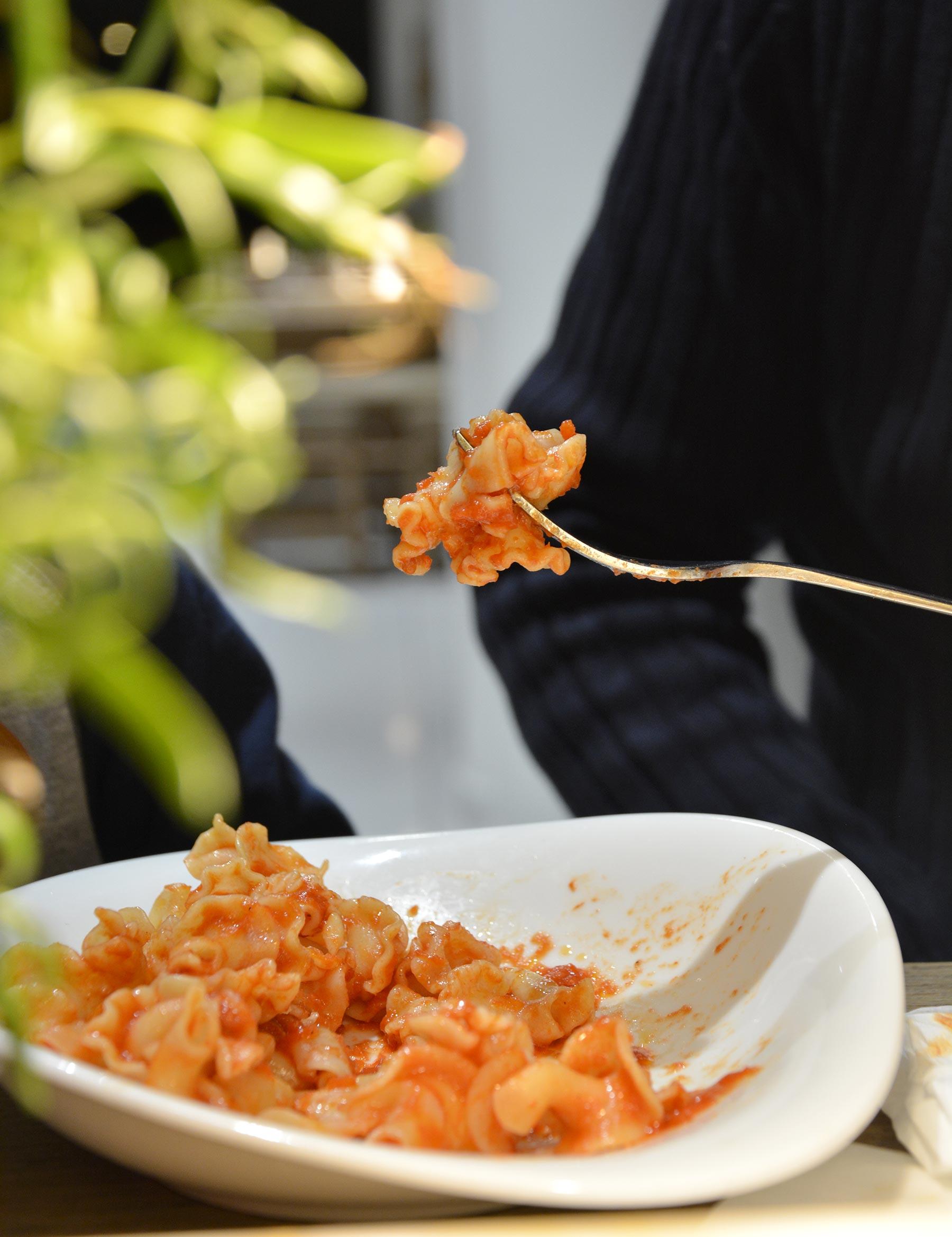 Pâtes à la sauce tomate chez Vapiano Atlantis