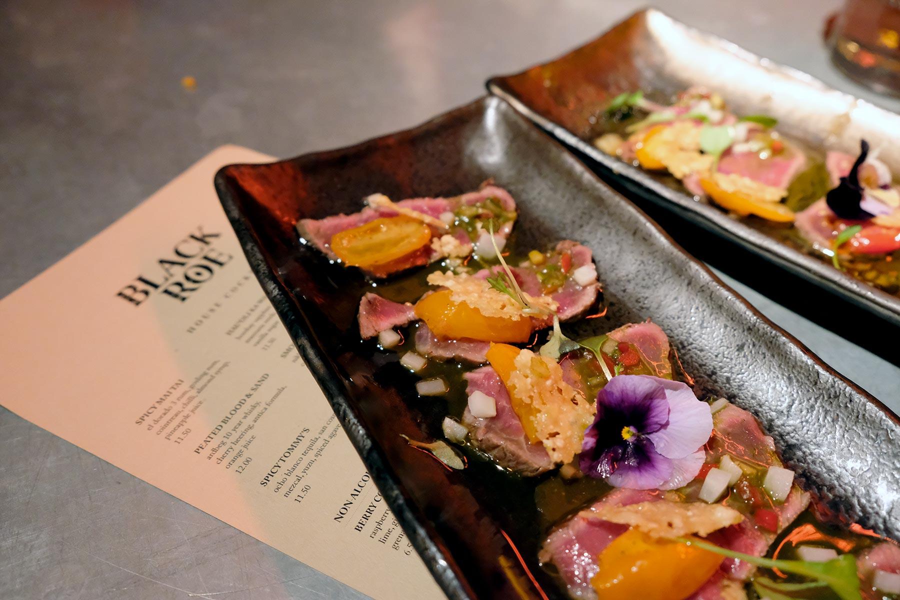 Restaurant fusion à Londres : The black roe