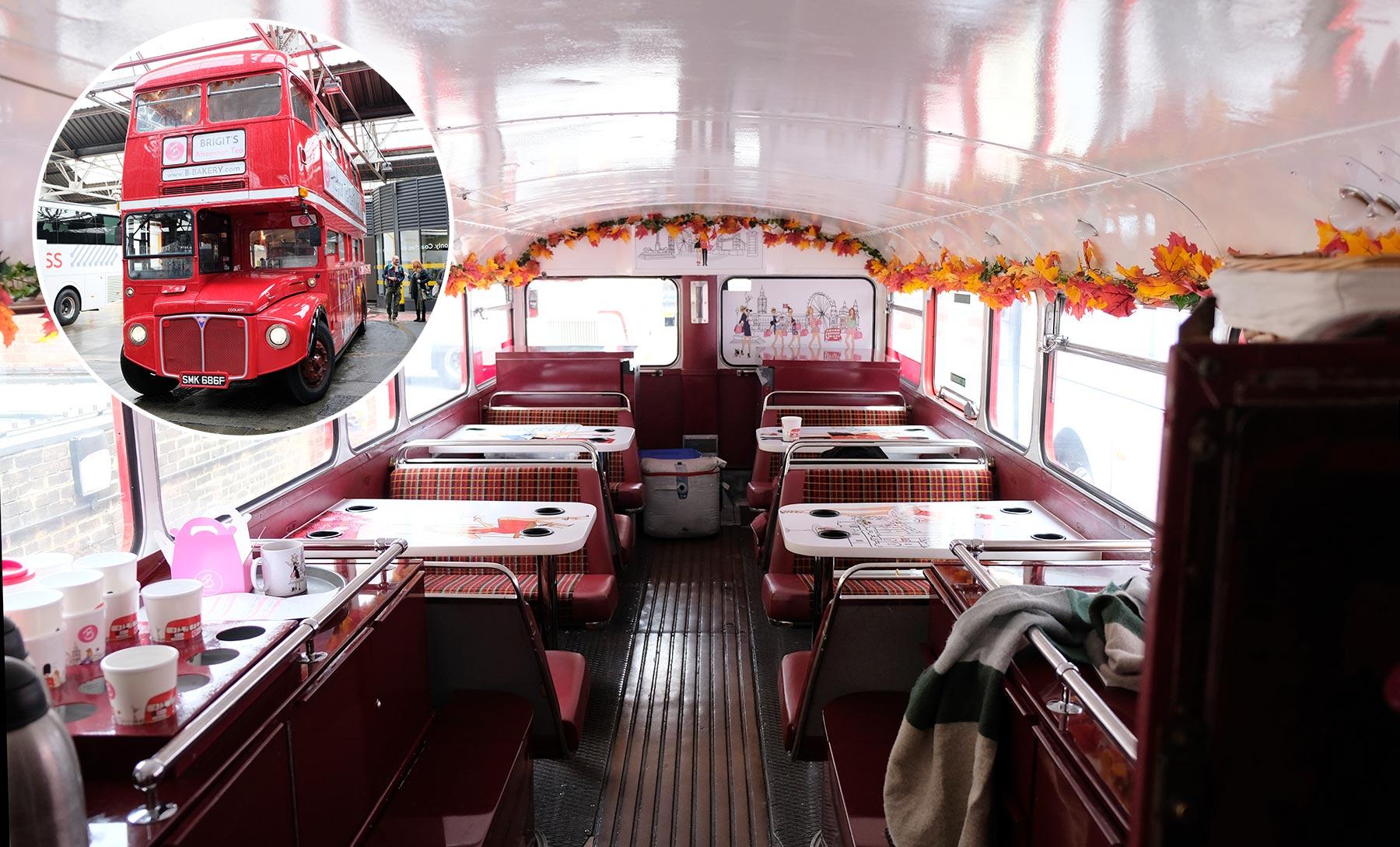 Balade touristique dans Londres à bord du Afternoon tea bus tour