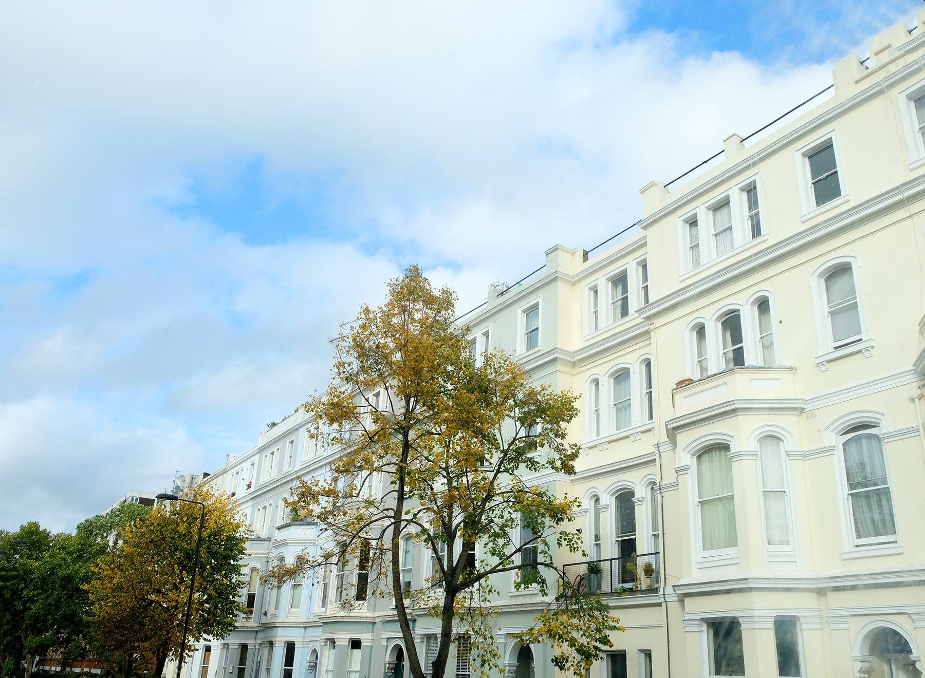 Notting hill, quartier coloré à Londres