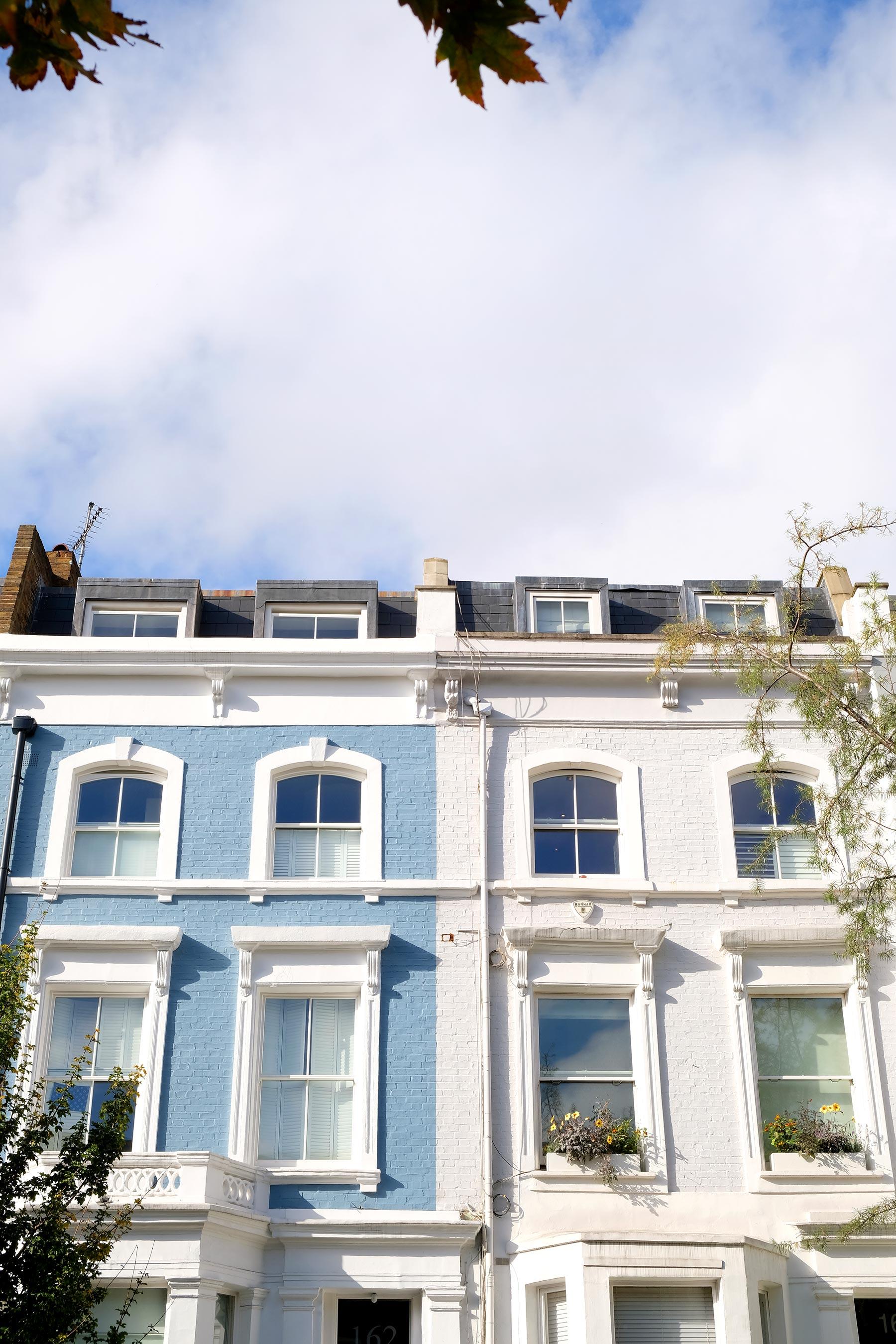 Notting hillet ses maisons colorées