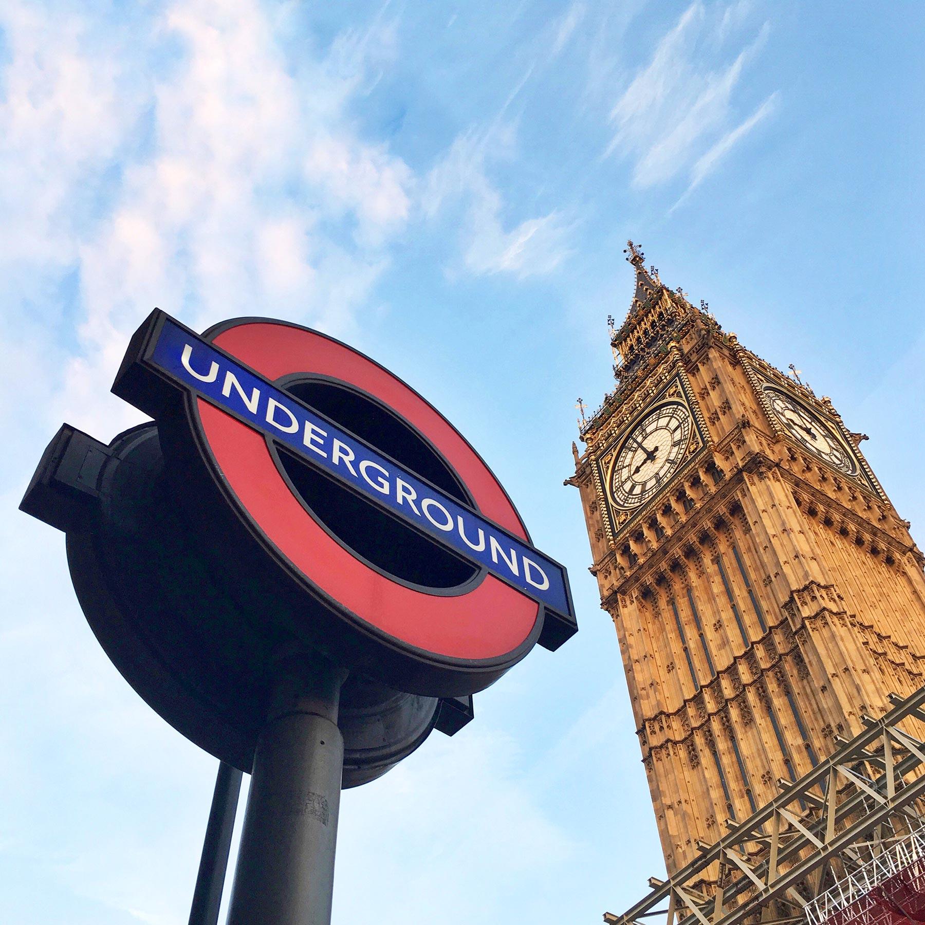Big Ben et le métro londonien