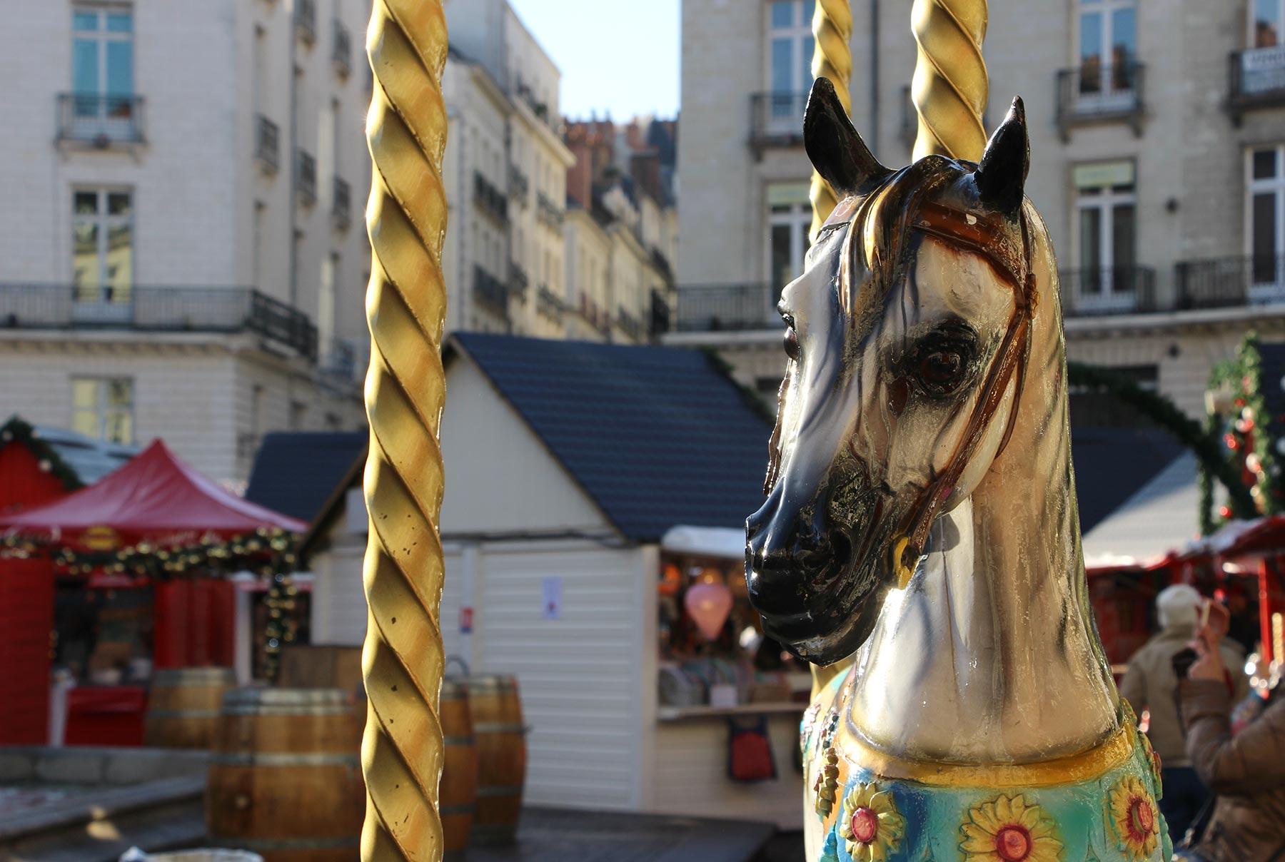 Place Royale à Nantes à Noël