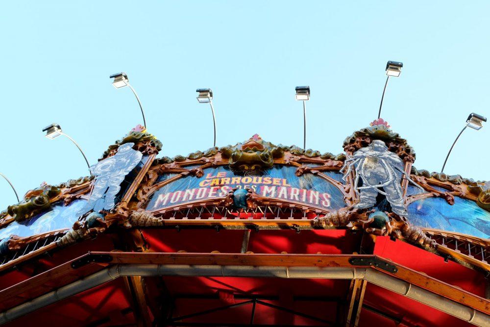 La carrousel des mondes marins qui fait partie des machines de l'île à Nantes
