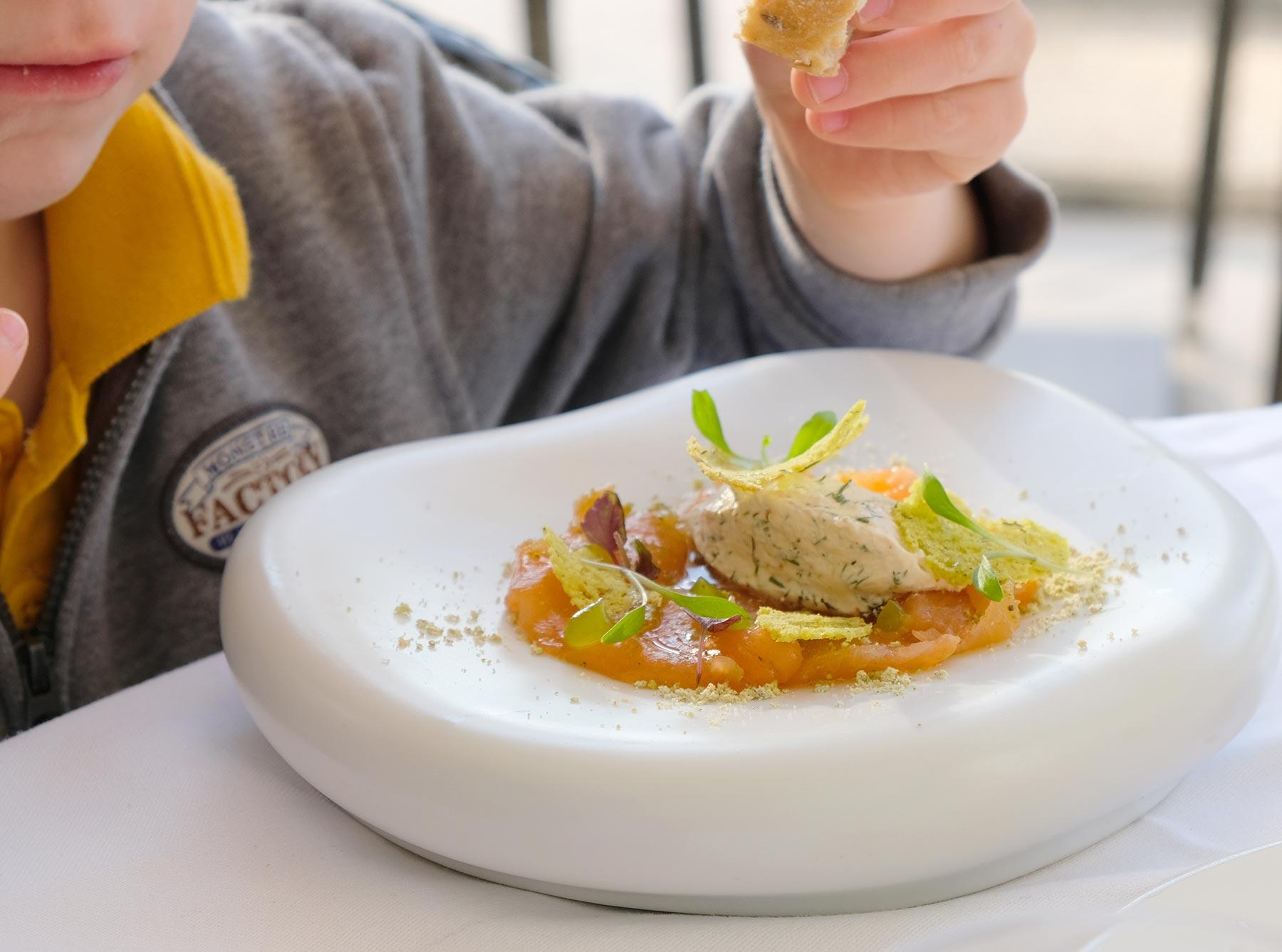Le menu enfant au manoir de la régate à Nantes