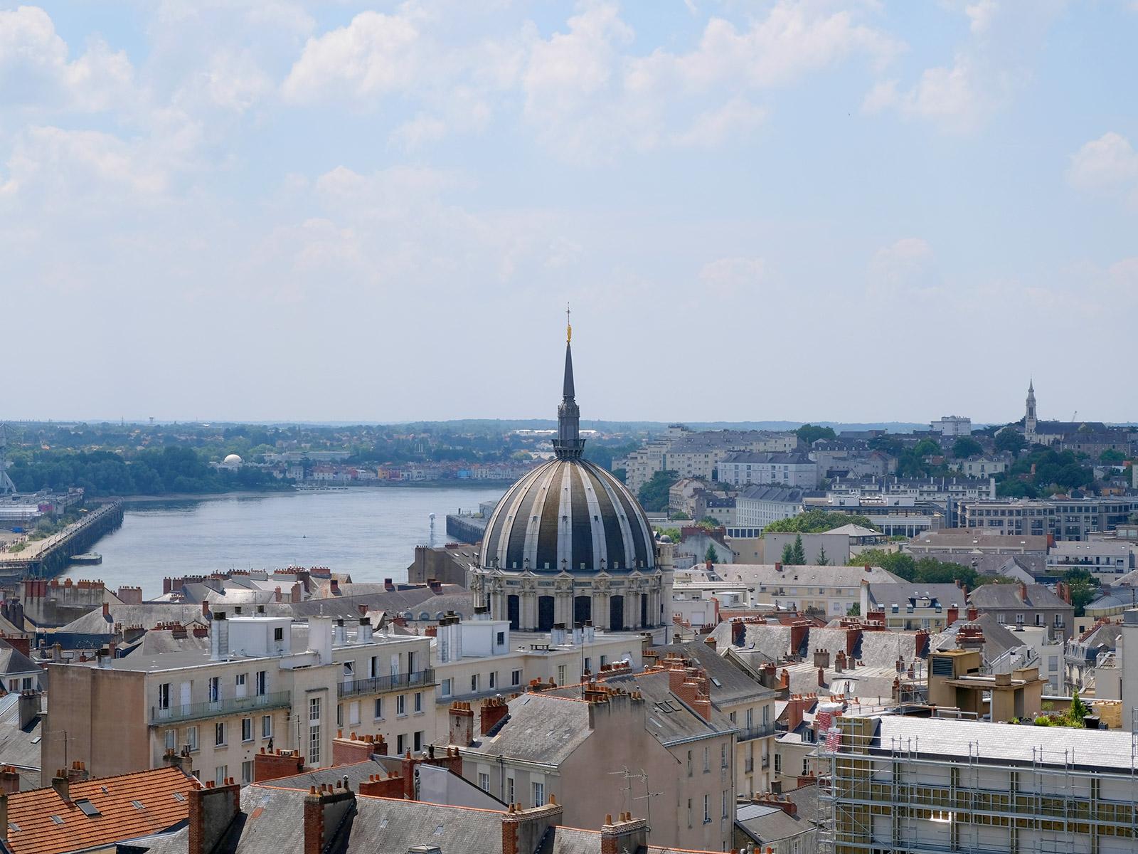 Vue depuis le musée Dobrée à Nantes